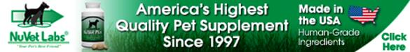 NuVetLabs America Highest Quality Pet Supplement Since 1997 Made in the USA
